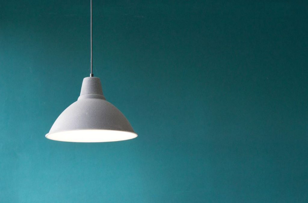 hanging light from ceiling
