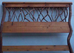 rustic twig headboard
