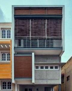 tall urban house